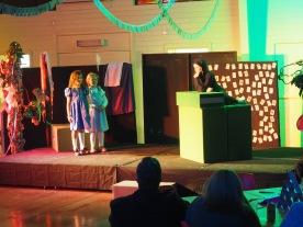 Two Alices - Harper and Asha confront the Cheshire Cat, Joseph